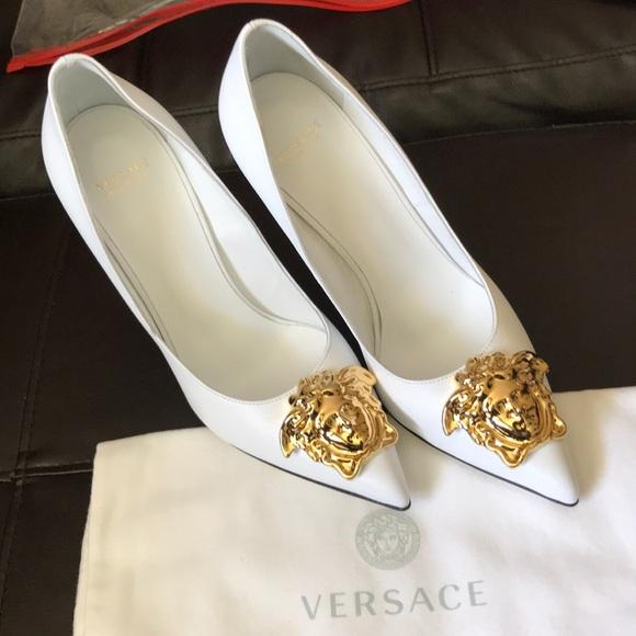 Versace Shoes | White Versace Heels